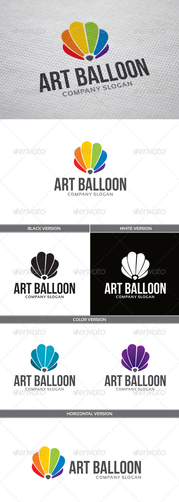 GraphicRiver Art Balloon Logo 4895110