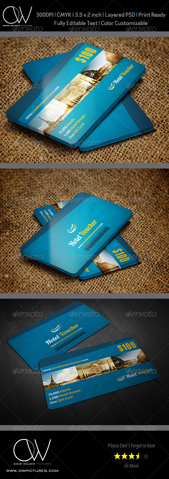 Hotel Gift Voucher Card Vol 7 - Cards & Invites Print Templates