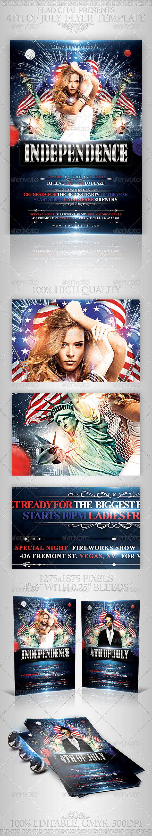 GraphicRiver 4th of July Independence Day Flyer Template 4895938