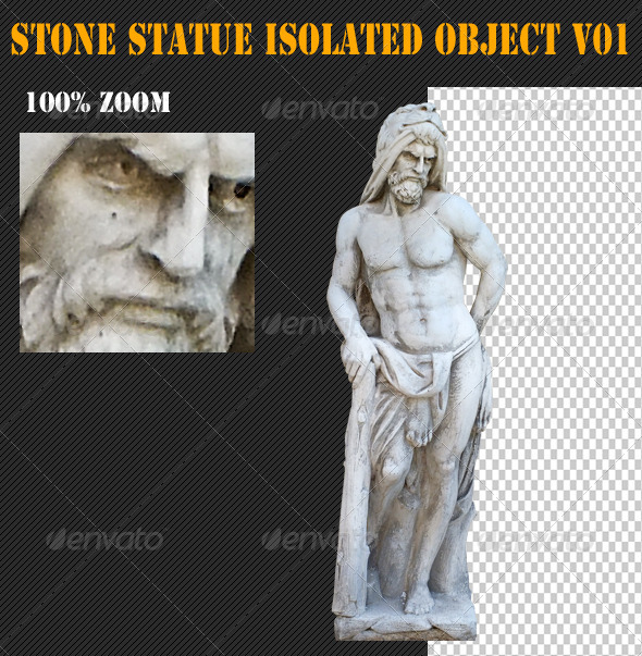 GraphicRiver Stone Statue Isolated Object V01 4859626