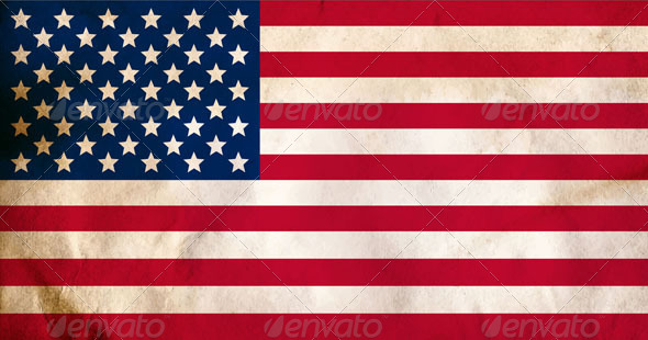 GraphicRiver Aged American Flag 4896460