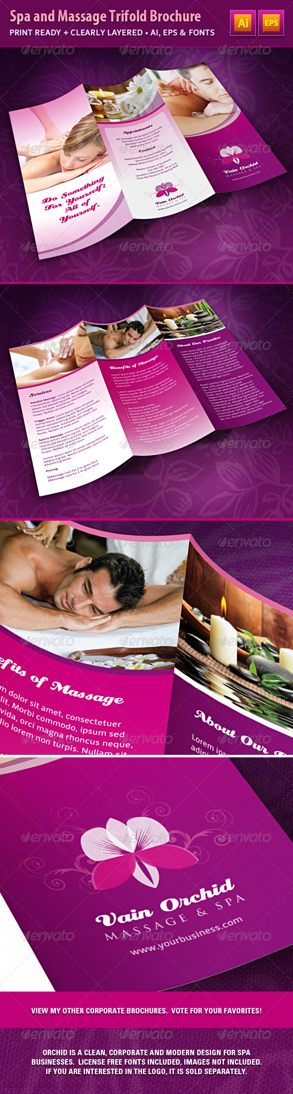 GraphicRiver Spa and Massage Business Trifold Brochure 4897017