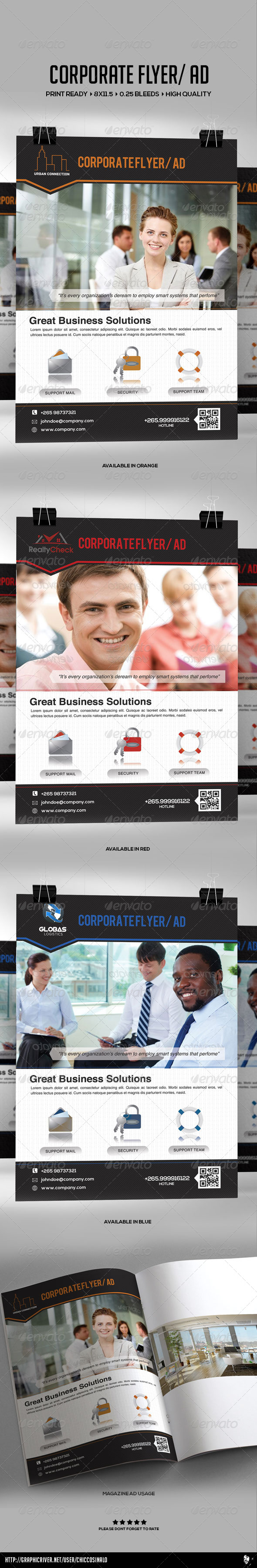 GraphicRiver Corporate Flyer Ad Template 4897380