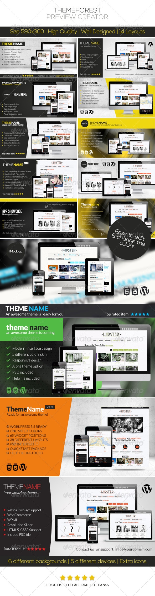 ThemeForest Preview Creator - Multiple Displays