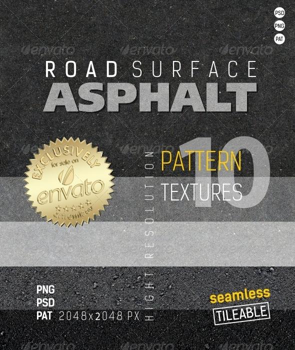 GraphicRiver Asphalt Road Surface Textures 4897460
