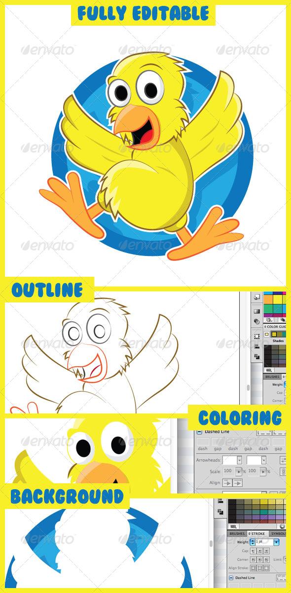 GraphicRiver Cartoon Chicks 4897512