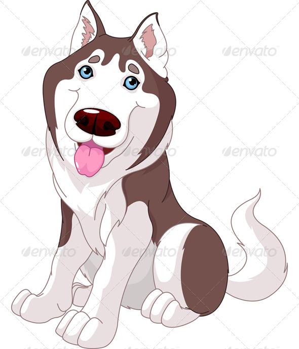 GraphicRiver Cute Husky 4897668