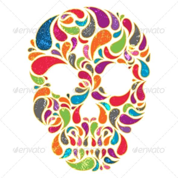 GraphicRiver Vector Skull 4898191