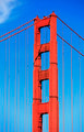Part of famous Golden Gate Bridge