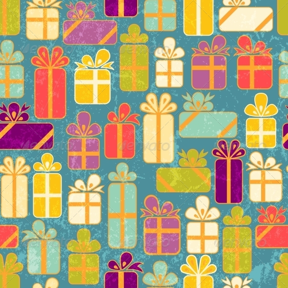 GraphicRiver Seamless Pattern with Colorful Gifts 4898285