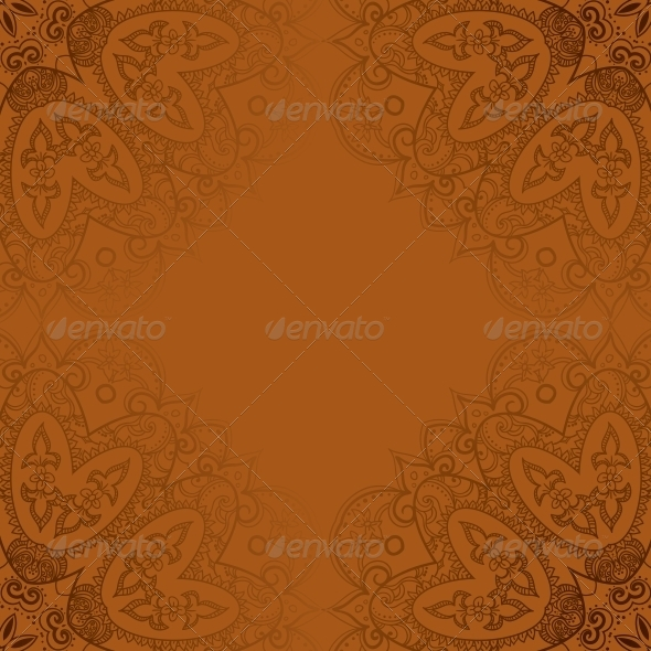 GraphicRiver Vintage Template Oriental Circle Background 4898569