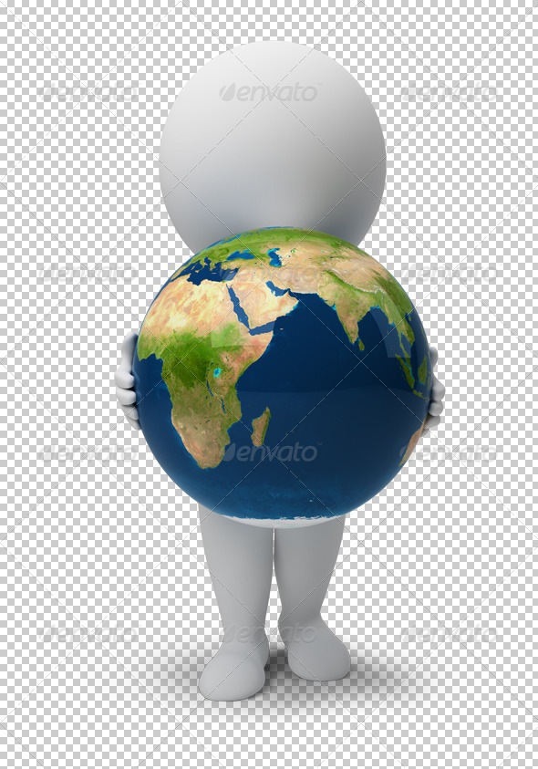 GraphicRiver 3D small people Earth 4898672