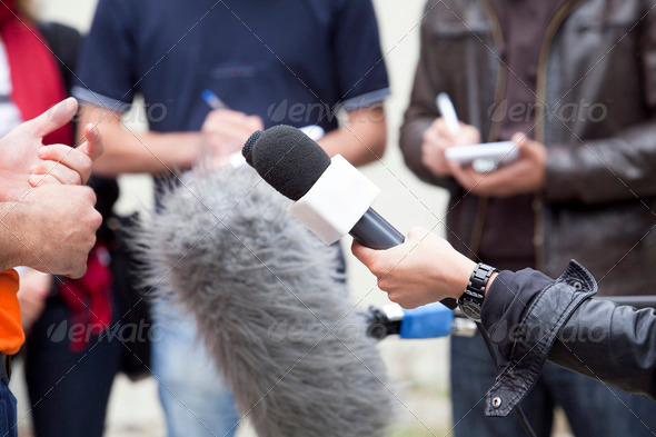 Media Interview  - Stock Photo - Images