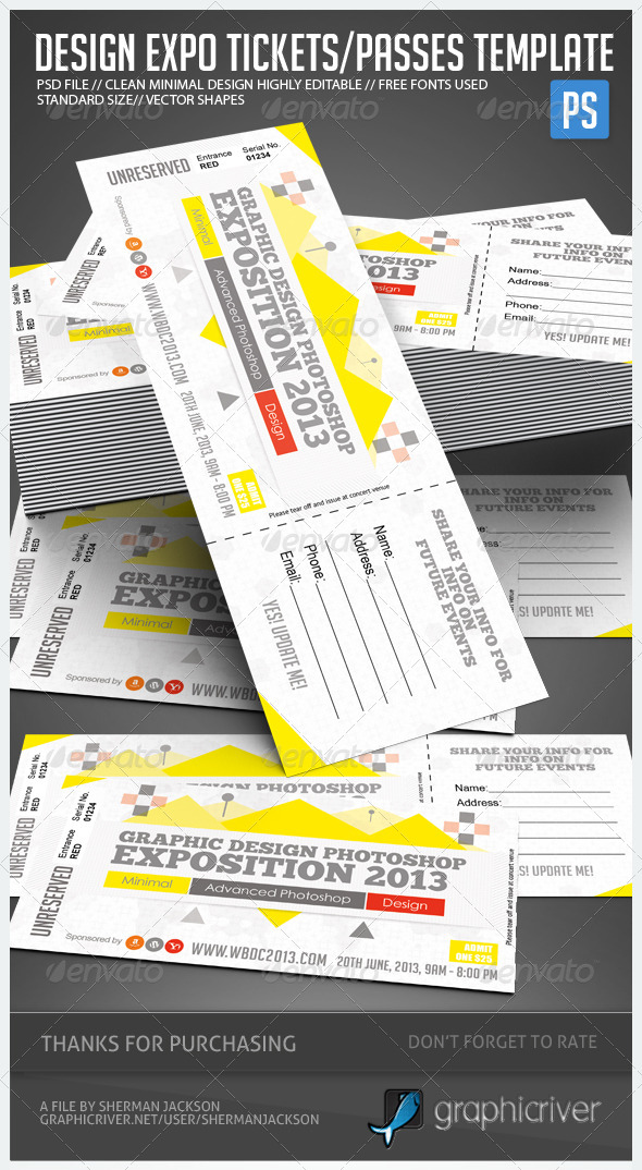 GraphicRiver Design Expo Passes Templates V1 4898731