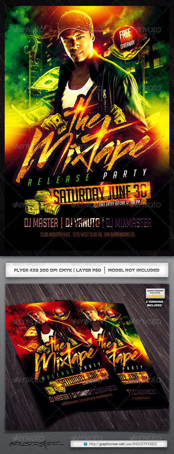 Mixtape Release Party Flyer V2 - Clubs & Parties Events