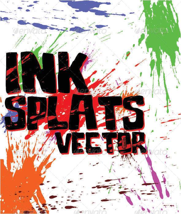 GraphicRiver Ink Splats Vector 4898856