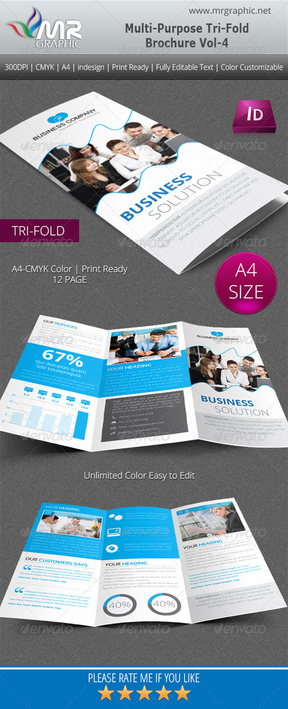 GraphicRiver Multipurpose Business Tri-Fold Brochure Vol-4 4899095