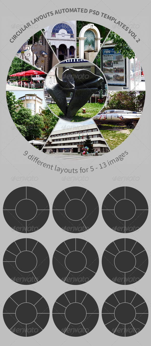 GraphicRiver Circular Layouts Automated PSD Templates Vol 2 4899593