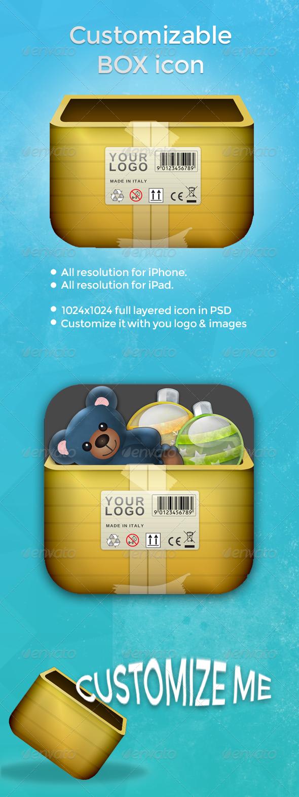 GraphicRiver Box App icon 4899620