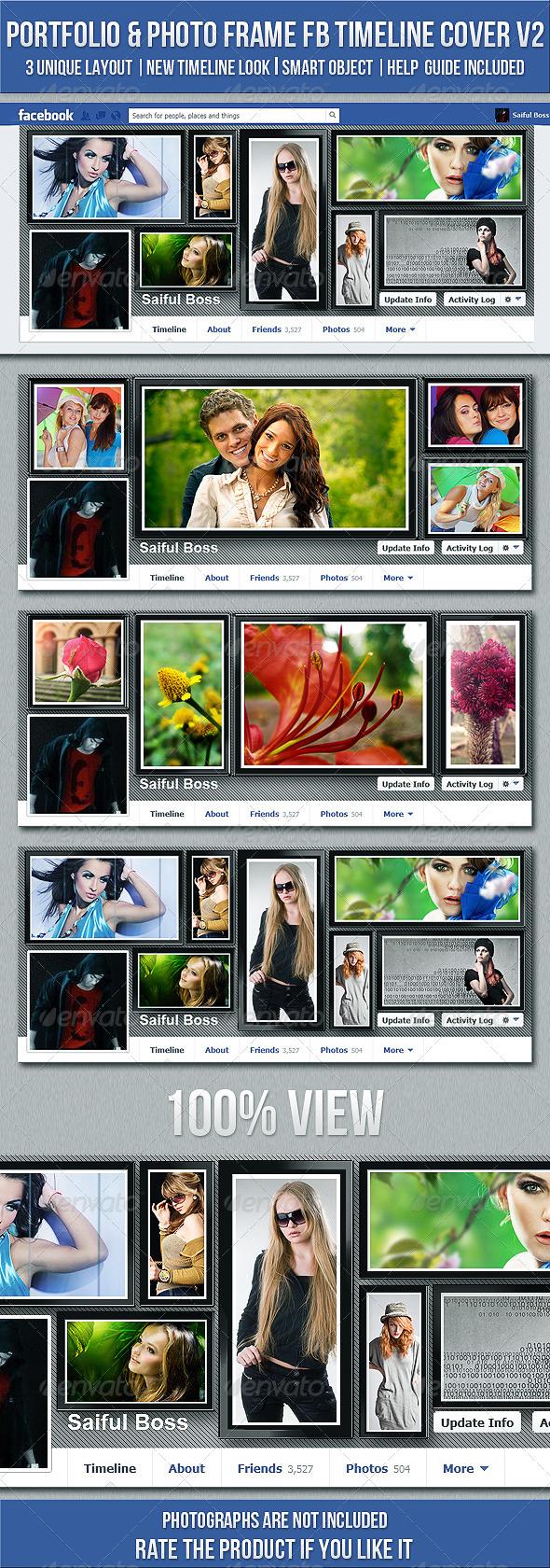 GraphicRiver Portfolio & Photo Frame FB Timeline Cover V2 4899621