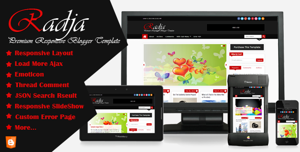 ThemeForest Radja Responsive Blogger Template 4899629