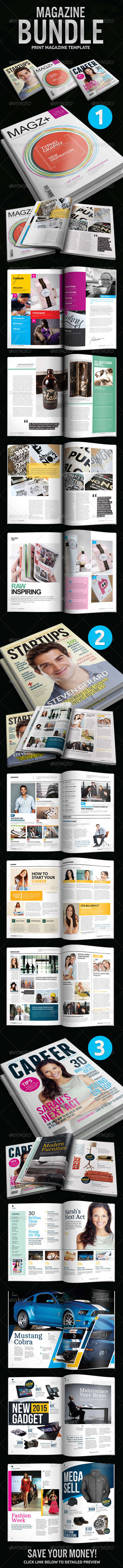 GraphicRiver Indesign Magazine Bundle 4900014