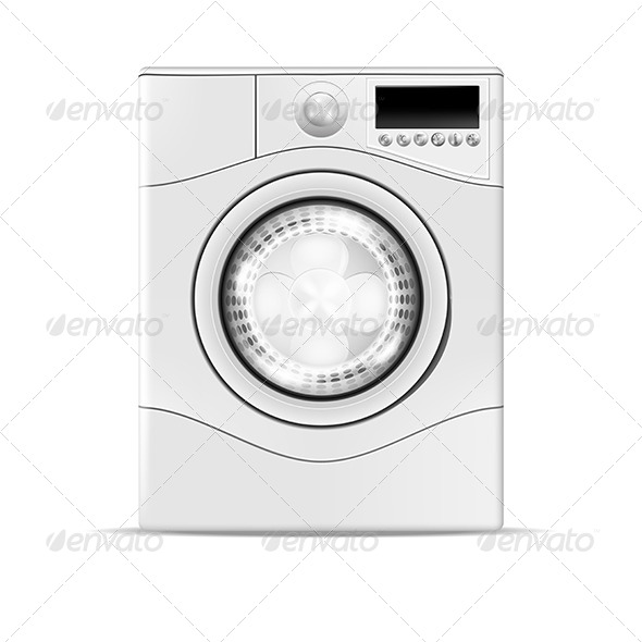 GraphicRiver Realistic Washing Machine 4900067