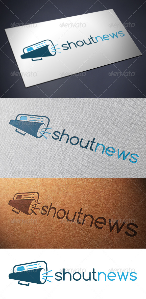 GraphicRiver Shout News Logo Template 4900078