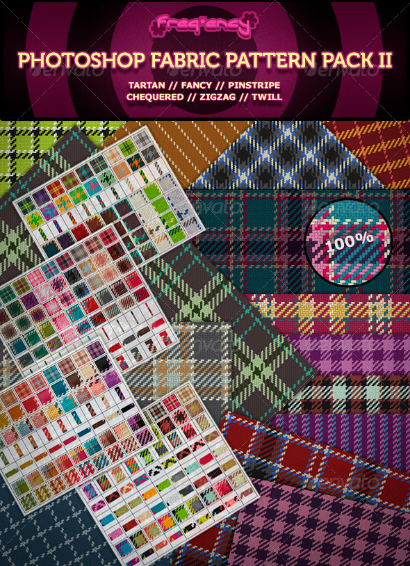Photoshop Fabric Pattern Pack II - Textures / Fills / Patterns Photoshop