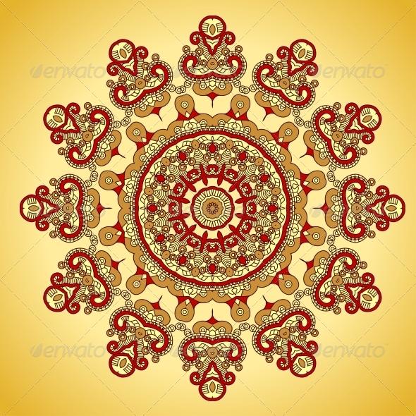 GraphicRiver Vector Round Decorative Design Element 4900312