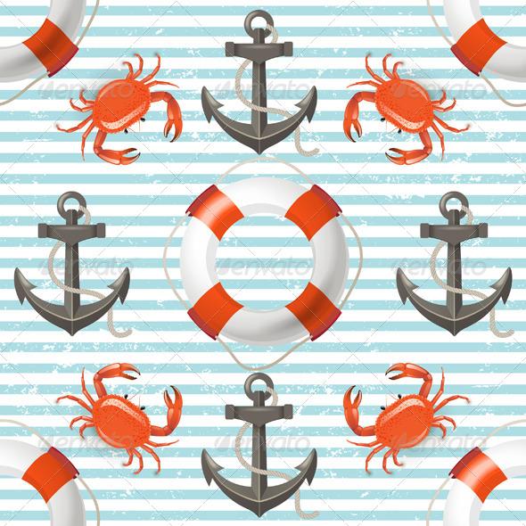 GraphicRiver Sea Seamless 4900470