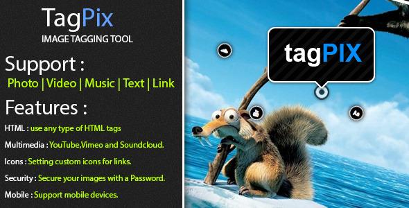 CodeCanyon TagPix Image tagging tool 4900472