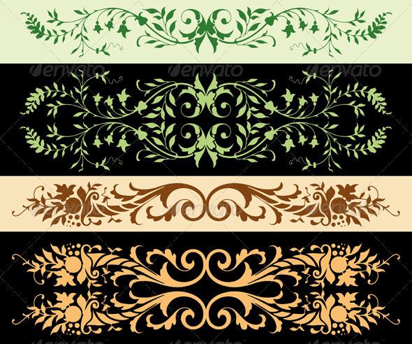 GraphicRiver Leafy Ornaments 507204
