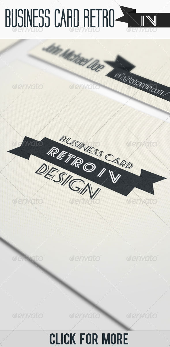 Business Card - Retro IV - Corporate Business Cards