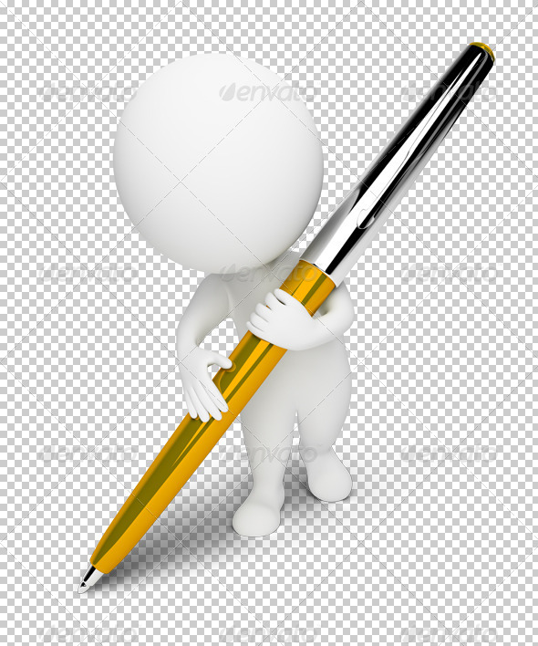 GraphicRiver 3D small people pen 4900601