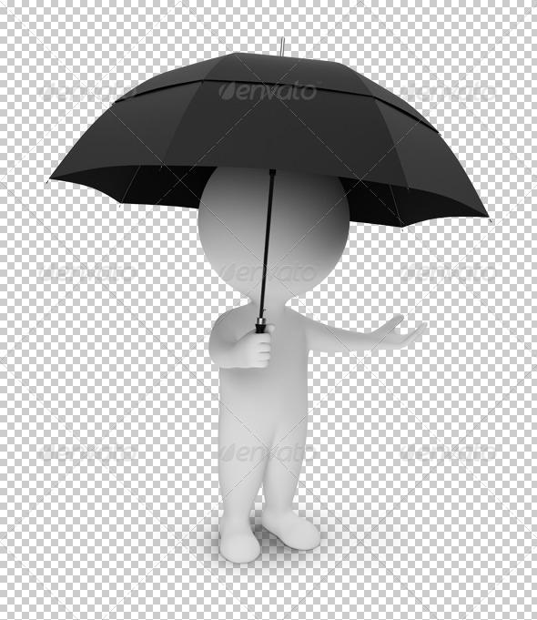 GraphicRiver 3D small people umbrella 4900698