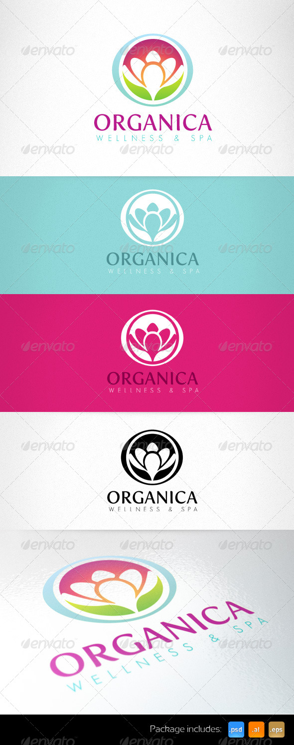 GraphicRiver Organica Wellness Spa Healthcare Center Logo 4873553
