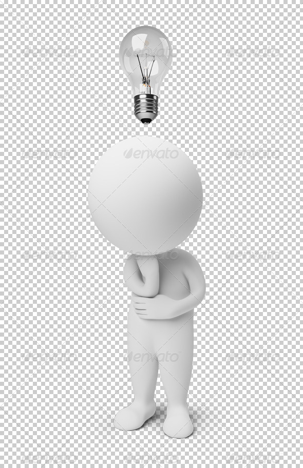 GraphicRiver 3D small people idea 4900735