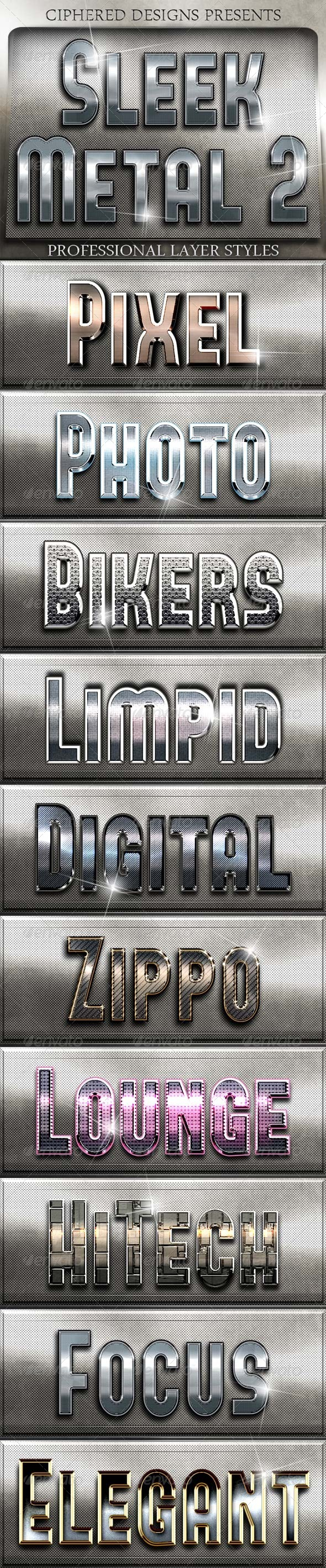 Sleek Metal II - Professional Layer Styles - Text Effects Styles