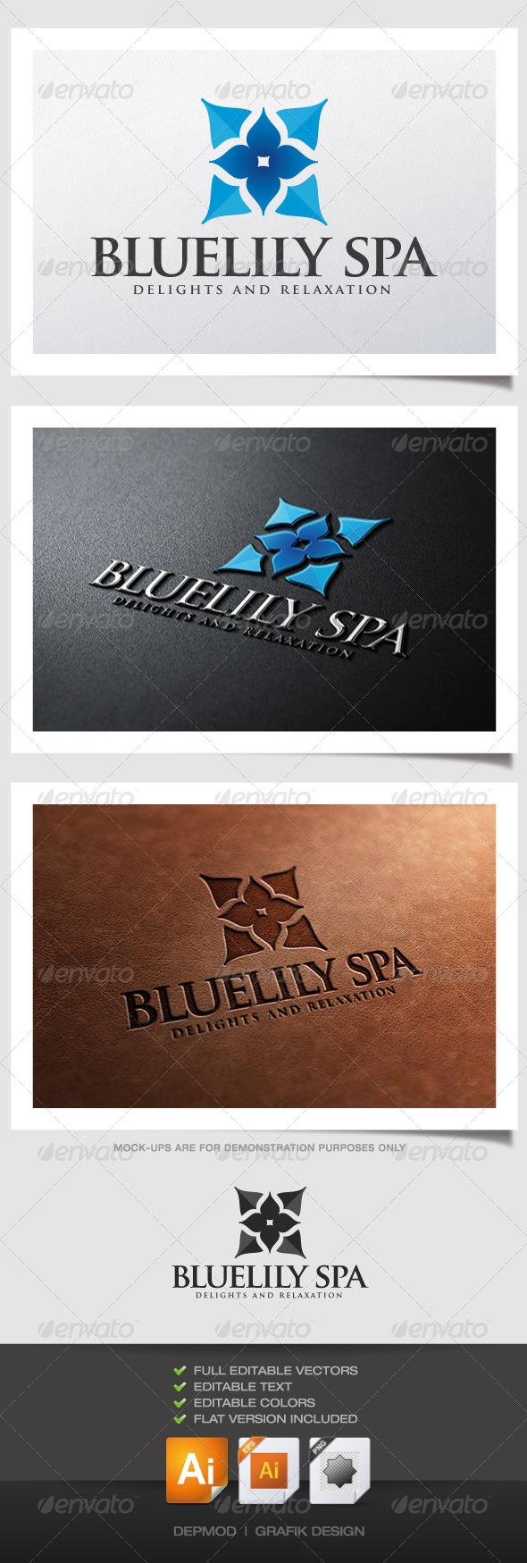 GraphicRiver Bluelily Spa Logo 4900763