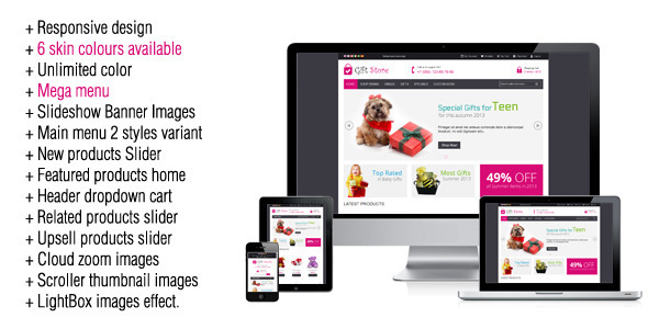 ThemeForest Gift Store Responsive Magento Theme 4900805