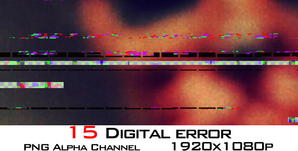 Digital Error Footage 15-Pack