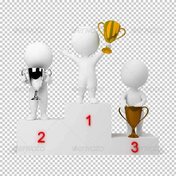 GraphicRiver 3D small people rewarding of winners 4900895