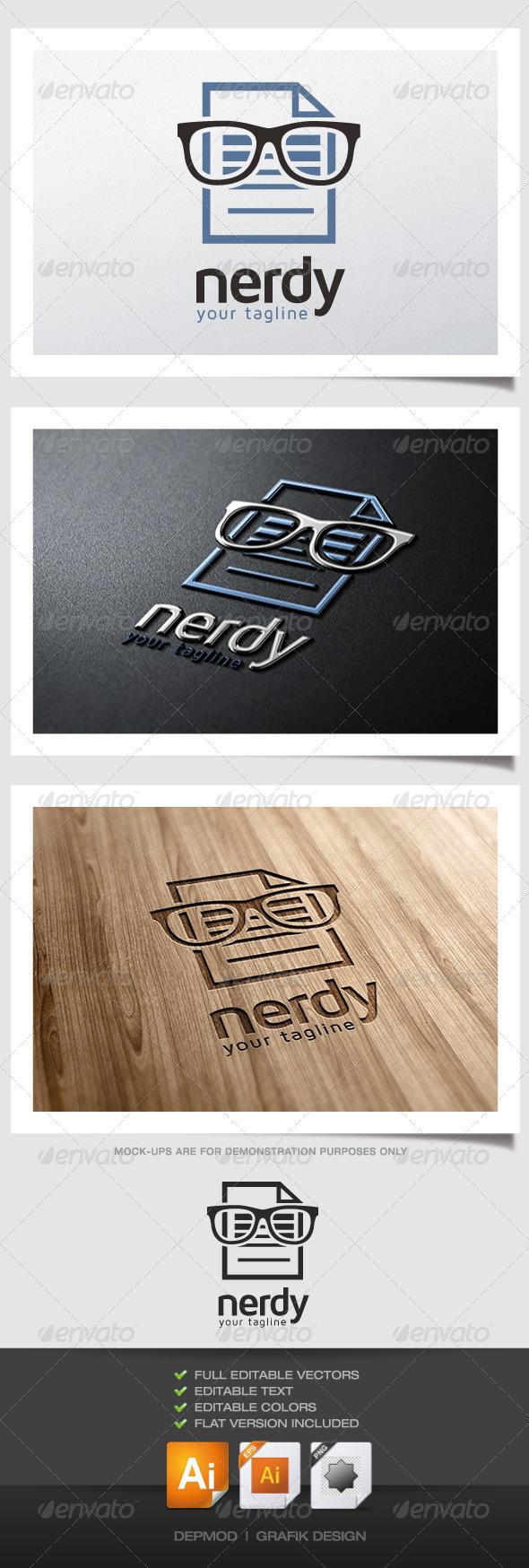 GraphicRiver Nerdy Logo 4901062
