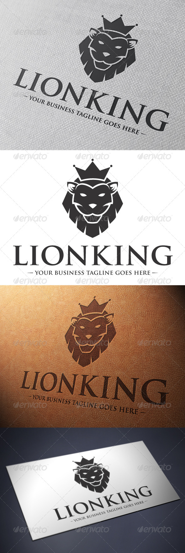 GraphicRiver Lion King Logo Template 4901315