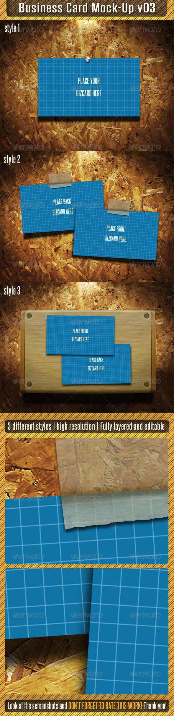GraphicRiver Business Card Mock-Up V03 4901366