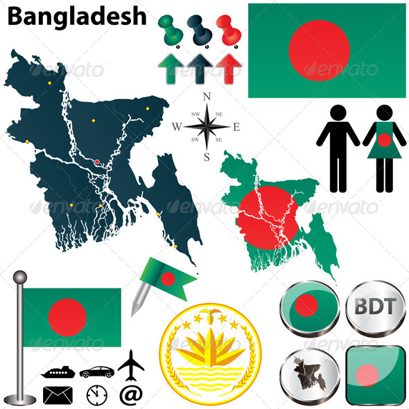 GraphicRiver Map of Bangladesh 4901439