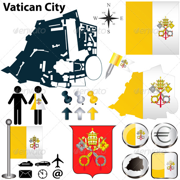 GraphicRiver Map of Vatican City 4901443