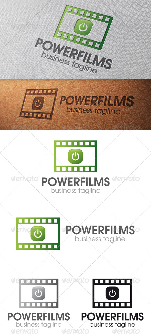 GraphicRiver Power Films Logo Template 4901447