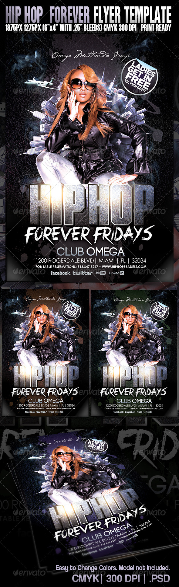 GraphicRiver Hip Hop Forever Party Flyer 4791796